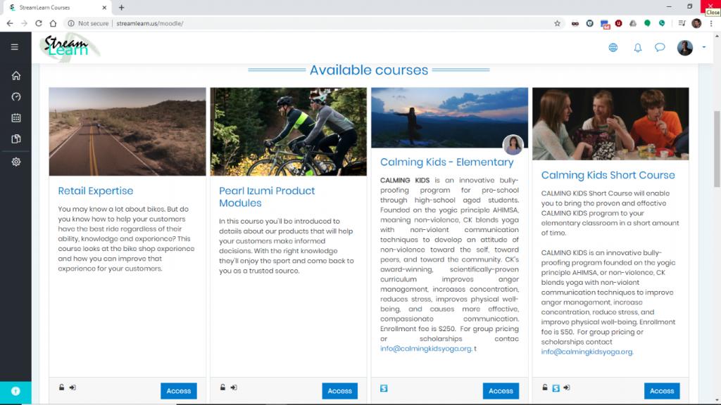 Courses Page Medium